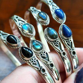 Armbanden van sterling zilver met edelstenen